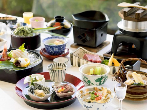 【レストラン】兵衛の旬会席≪神戸牛≫ 食後にはケーキ・フルーツ・和スイーツが堪能できるデザートバイキング付き  1113x