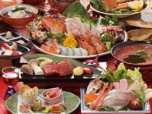 【グルメコース冬の花暦会席】日本海特選5種のお造り×鰤と蟹のしゃぶ鍋