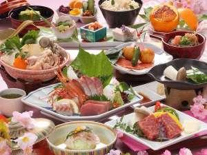 ☆基本コース【春の花舞会席】桜鯛若草蒸し×島根和牛ステーキ