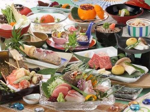 基本コース【夏の花舞会席】島根和牛ステーキ×まるごと完熟トマトのサラダ