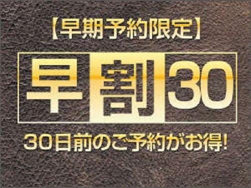 【早割30日前限定プラン】スタンダードご宿泊プラン 〜食事なし〜