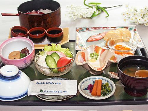 ◆お手軽朝食付きプラン〜地元料理を盛り込んだ和定食〜