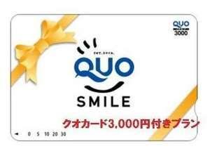 とっても得する出張に♪クオカード3000円付プラン♪★素泊まり Q30