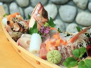 新鮮魚介の宝庫!能登にきたなら「舟盛り」☆特典付