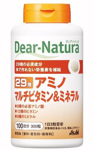 ・栄養機能食品 ・内容量:300錠 ・含有成分:たんぱく質 0.23g、脂質 0.02g、炭水化物 0.35g、ナトリウム 1.0~2.0mg、ビオチン 45μg、ビタミンE 8mg、亜鉛 2.34mg、銅 0.2mg、ビタミンA 450μg、ビタミンB1 1mg、ビタミンB2 1.1mg、ビタミンB6 1mg、ビタミンB12 2μg、ナイアシン 11mg、パントテン酸 5.5mg、葉酸 200μg、ビタミンC 80mg、ビタミンD 5μg、カルシウム 100mg、マグネシウム 50mg、鉄 2.5mg、マンガン 1.17mg、セレン 7.7μg、クロム 10μg、モリブデン 5.67μg、バリン 30mg、ロイシン42mg、イソロイシン 30mg、スレオニン 21mg、メチオニン 39mg、フェニルアラニン 42mg、トリプトファン 10.5mg、リジン 36mg ・1日あたりの値段:約17円