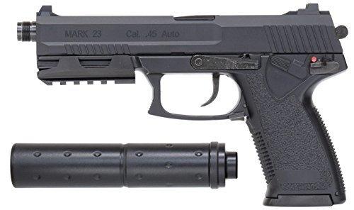 全長:245mm(サイレンサー含まず) 重量:766g 装弾数:26発
