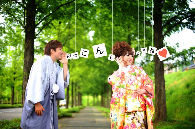前撮りガーランド 結婚式