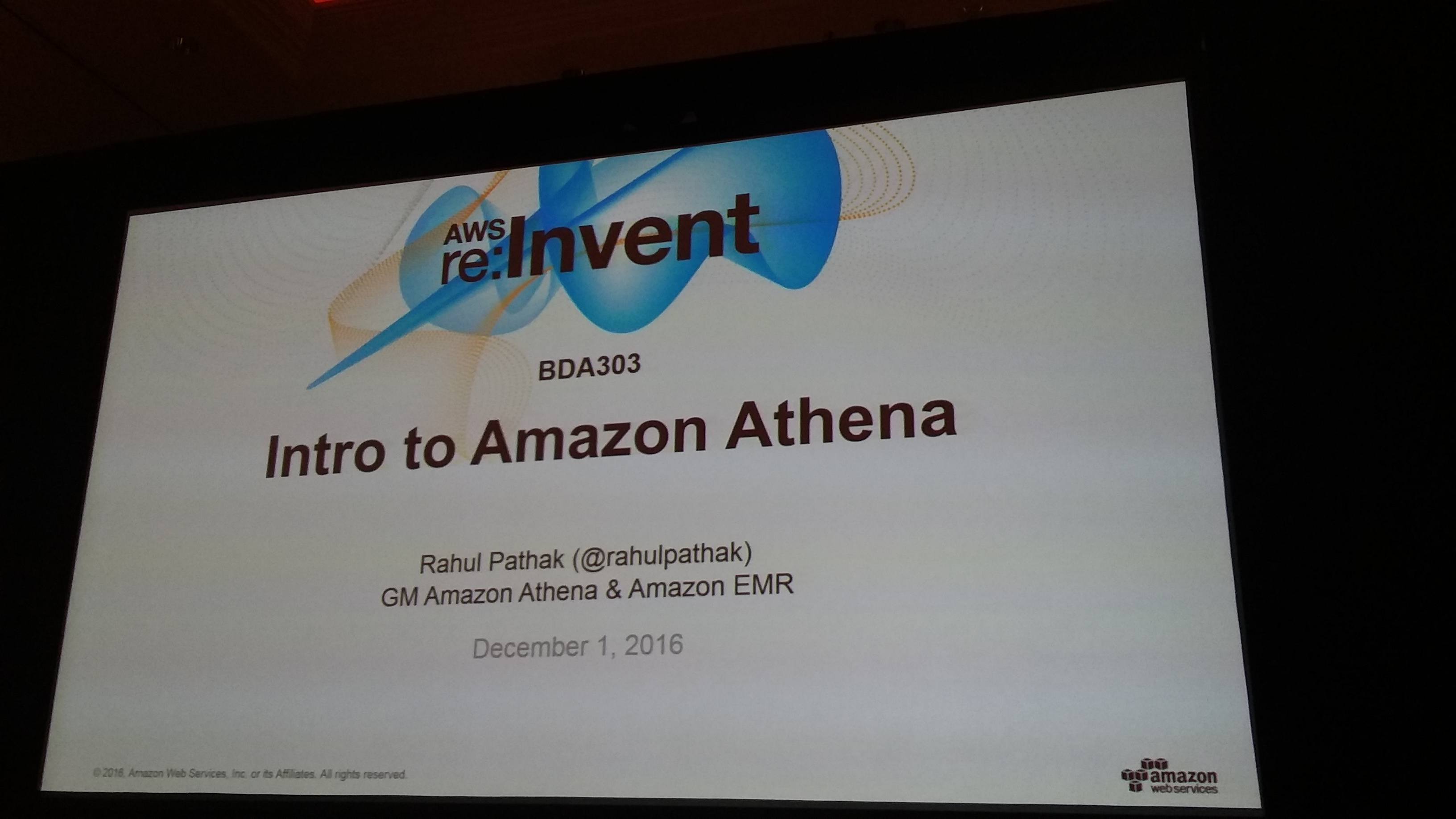 Intro to Amazon Athena (BDA303)