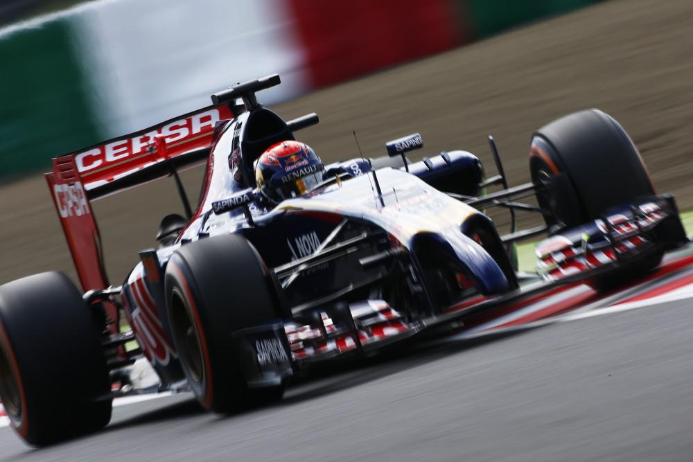 2014年F1日本GPでF1初走行に臨んだマックス(©Pirelli)