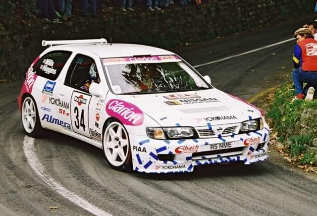 出典:http://erikwestrallying.tumblr.com/post/50521301101/nissan-almera-rally-car-f2-kit-car