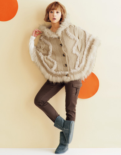 2014,15冬トレンドのケープポンチョ♡サッと羽織って包まれ系女子に♪