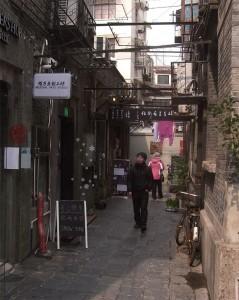 田子坊文創園區現在是各地藝術家的工作室聚集地。