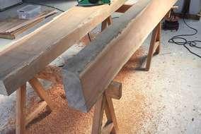 キープしていた桜の板木を製材加工です!