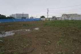 茨城県の某所に太陽光パネルを設置します。 まずは現地調査。