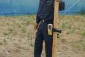 そしてパネルを乗せる土台作りから! 土台は重要! キチンと計測して、重機も使ってしっかり作ります。