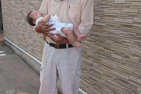 施工最終段階でお客様の赤ちゃんの抱っこをさせていただき、我が子の事が懐かしくとても癒されました!