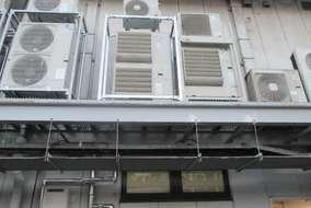 空調の電源工事も施工しました。