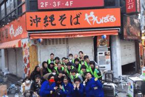最終日は吉本興業の芸人さん達も応援にこられて、協力して落書き・ステッカーを除去しました。