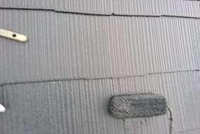 屋根の中塗りの写真です。