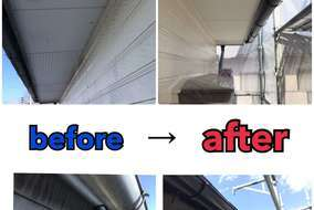 軒天井、破風、雨樋も塗装施工を行い とても綺麗になりました!