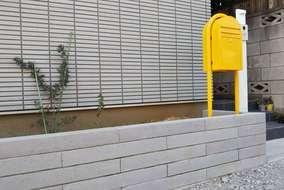 コスパ良しのコンクリート製ブロック花壇