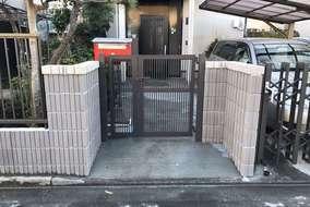門扉:LIXILプレスタ門扉2型 オータムブラウン色