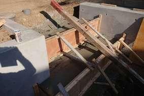 階段打ちっぱなし工事