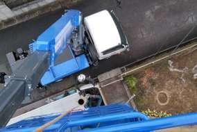 高所作業車の上からの写真