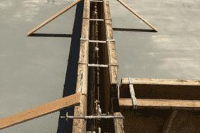 立上り部分の型枠