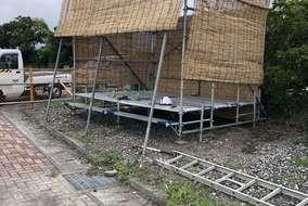 よしづで熱中症対策の小屋を作りました。