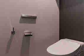 トイレのアクセサリー関係にもお施主様のこだわりが詰まっています。
