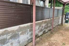 ブロック塀洗浄後