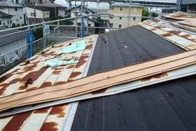 屋根板金解体工事