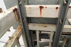 今回は、会社屋上の、手すり塗替え工事です。