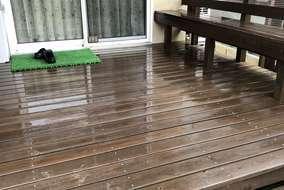塗装前にしっかりと付着した苔や汚れを落とします。最終的な仕上げに大きく影響する大切な工程です。