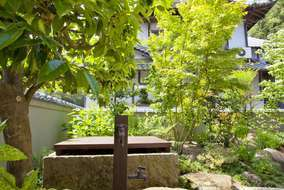 敷地内に古い井戸があり、蓋をトタンから板に変え、雰囲気を統一しました