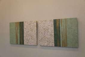 空間に合わせ、手作りの装飾パネルを飾りました。 トータルデザインだからこそ出来るコーディネートです。