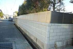 ブロック、目隠しフェンス