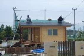 屋根のガルバー合板わプロにお願いしました。