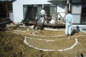 施工前の地割。
