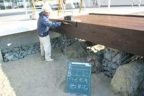 アスファルト舗装工事の砕石作業
