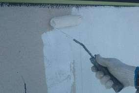 外壁、下塗り