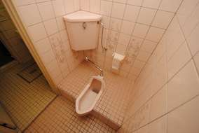 段差のある和式兼用トイレ