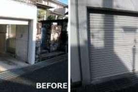 神戸市のバランスシャッターの施工事例です。