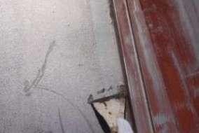 屋根 ケレンの施工画像です。