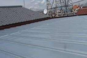 屋根塗装の施工後の画像です。