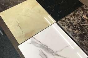 日本ではまだ珍しい 大理石調の化粧板です。