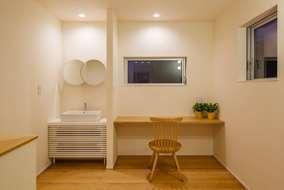 廊下内に設けたスペースになります。在宅ワークにも使えるスペースになっています。