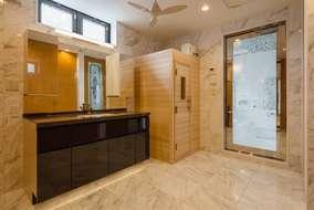 洗面所にはサウナもついています。
