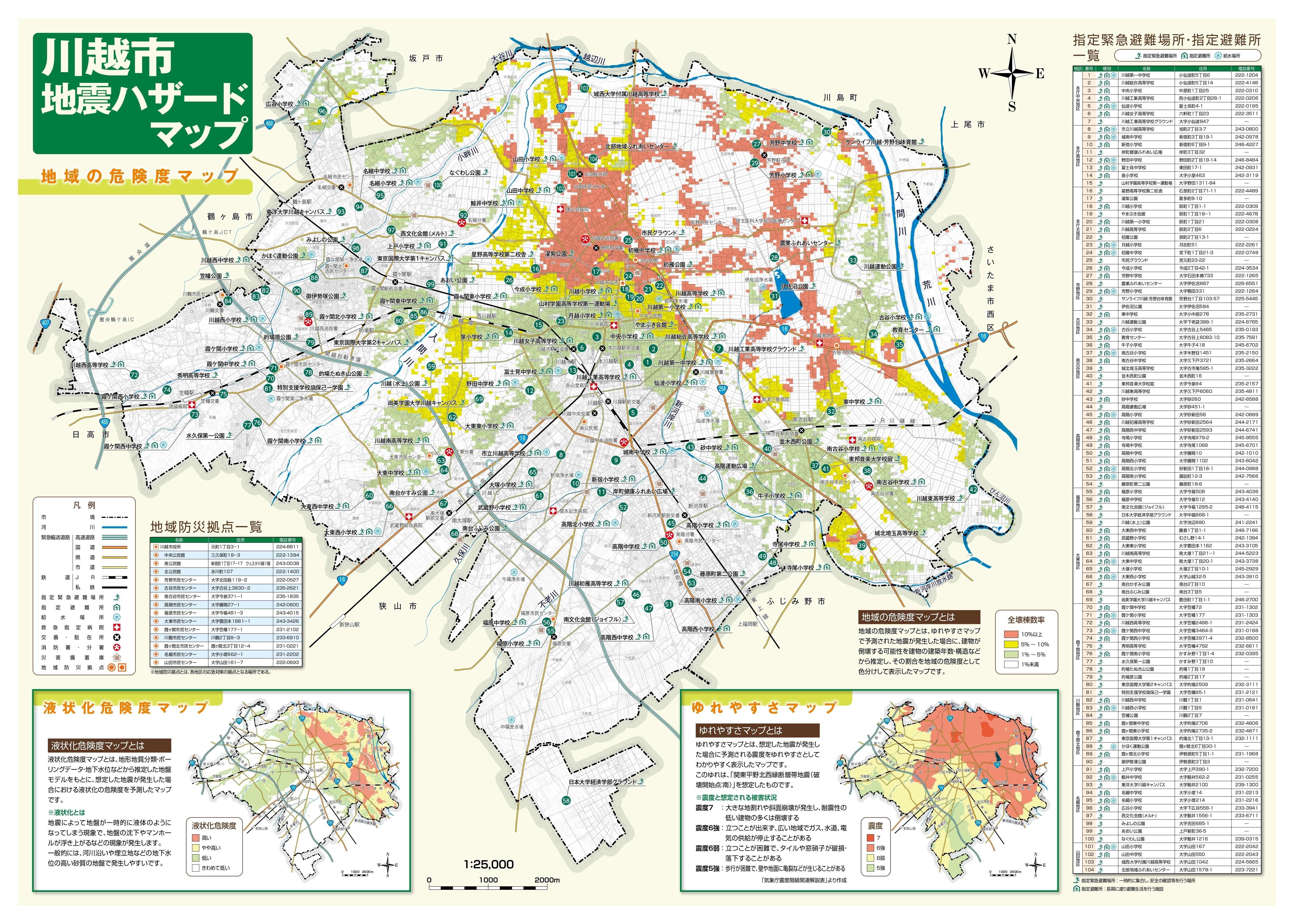 ハザード 川越 マップ 市